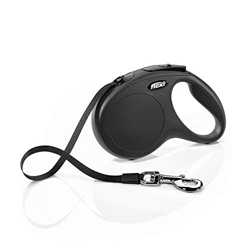 flexi New Classic Leash, Black, Medium, 25 kg