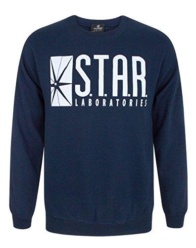 Official The Flash TV Series Star Laboratories Unisex Maglione Blu Medium