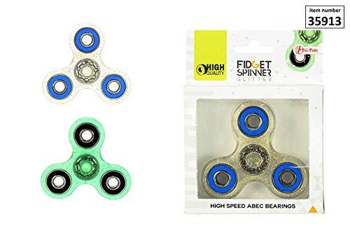 Preisvergleich Produktbild Fidget Spinner, Finger Kreisel Glitterfarben sortiert