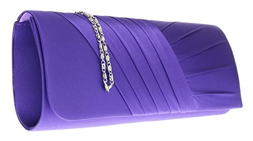 Floreale Girly In Pieghettato Cinturino Argento Oro Porpora Pochette HandBags Blu Raso Bianco Fiore Rosa Nero qtrwqgn0