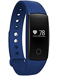 Fenyi id107Montre Bracelet Intelligente Bluetooth Moniteur de fréquence cardiaque Suivi du sommeil/ d'activité/compteur de calories Bracelet Santé Fitness Montre sport pour Smartphone Android iOS iPhone