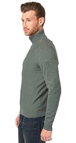 TOM TAILOR Uomini Giacca in maglia 100% cotone verde muschio