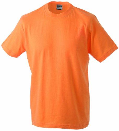 James & Nicholson Jungen Junior Basic Rundhals T-Shirt, (orange), X-Large (Herstellergröße: XL (146/152))