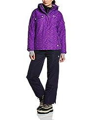 Peak Mountain Avim - Conjunto térmico de ropa interior para mujer, color negro, talla FR : M (Talla fabricante : 2)