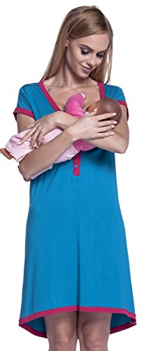 Happy Mama. Women's Maternity Nursing Breastfeeding Nightdress Shirt Gown. 981p Test