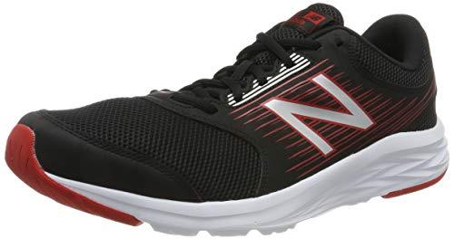 new balance m411v1, scarpe running uomo, nero black/red, 44 eu
