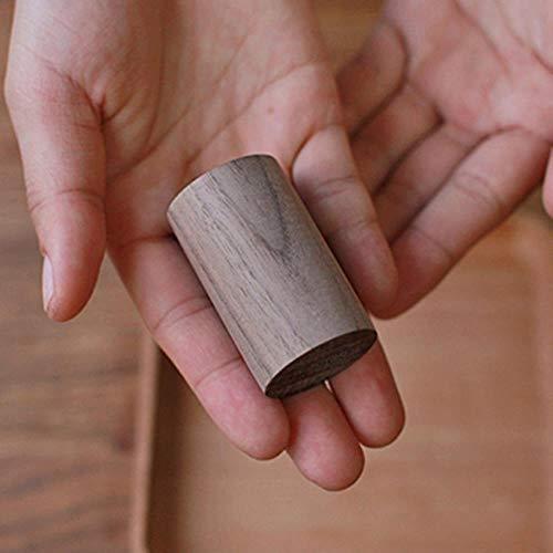 OLDK 2 Stück ätherisches Öl diffundiert Holz -Aromatherapie-Diffusor für ätherische Öle-Auto diffundiert Holz erfrischende Schlafhilfe, schwarz Nussbaum -
