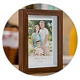 XFkbeA Bianco Vintage Wood Grain Desktop Photo Frame Home Art Craft Cornice Delicate 5 12 fotogrammi Pollici per Immagini, Noce, da 10 Pollici