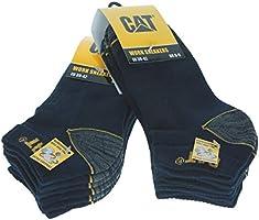 Caterpillar CAT 6 Paia Calze da Lavoro Uomo Estive Corte alla Caviglia, per Scarpe Antinfortunistica - Rinforzate su...