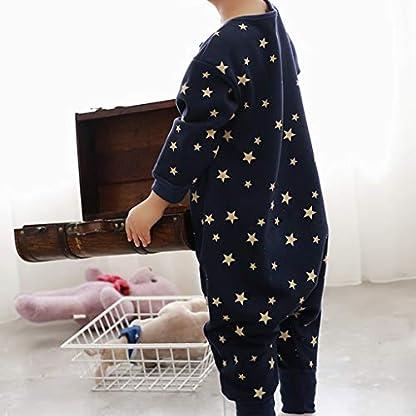 Sacos de Dormir para niños 1.5 Tog con Piernas Mangas Largas Cremallera Frontal