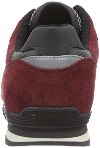 Boss Green Runcool Ii 10185272 01, Baskets Basses Homme Rouge - Rot (Dark Red 601)