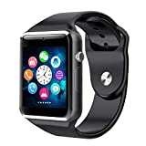 SmartWatch,Anding Bluetooth Fitness Watch Sport Uhr mit Kamera Schrittzähler Schlaf-Monitor Synchroner Anruf SMS-Benachrichtigung,Unterstützung SIM-Karte und TF-Karten ,für Android iOS (Black)