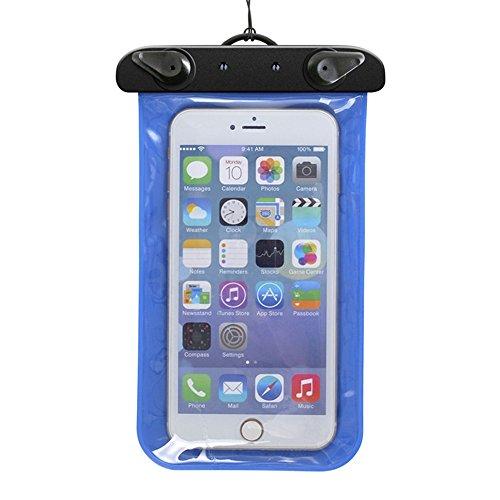 Custodia impermeabile per immersione-Fascia da braccio e custodia per dispositivi iPhone, Samsung, MP3, UKStock blu Blu