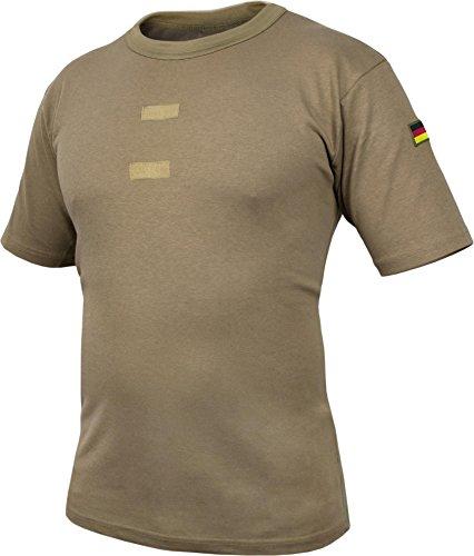 normani Bundeswehr Tropen T-Shirt mit Deutschlandfahnen und Klettstreifen Farbe Khaki/Kurz Größe 11/4XL