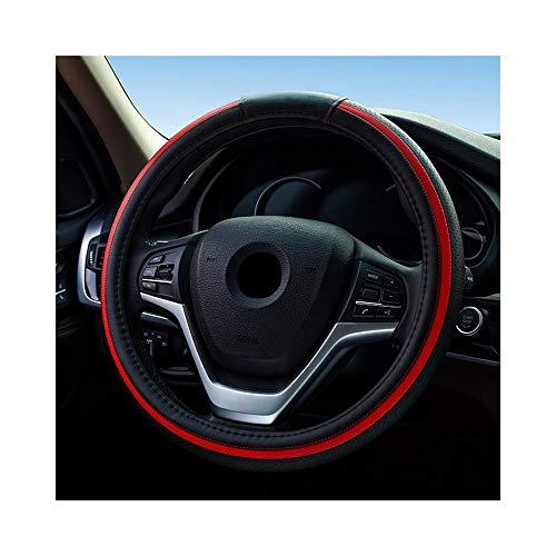 FORTINGBAR Anti Slip Car Automotive Lenkradabdeckung, for Frauen Mädchen Lenkerabdeckung Black-red - Radkappen Honda Accord