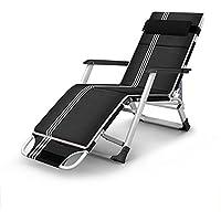 MAGO Silla Plegable de aleación de Hierro Silla de Almuerzo Ajustable ampliada en Negrita Cama Plegable Bed Cama de Playa Bed Cama de Campamento
