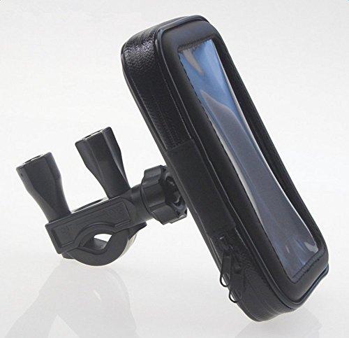 Qifumaer Universal-Motorrad-Telefonhalterung, universell einsetzbar, für Fahrrad, Fahrrad, Handy, Halterung, Handy, Tasche, Fahrrad, Handyhalter, wasserdicht, 138 x 75 x 25 mm - 138 Handy