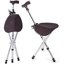 SHKY discapacidad asistencia médica plegable bastón bastón asiento taburete silla Camp silla y bastones de pie , picture color