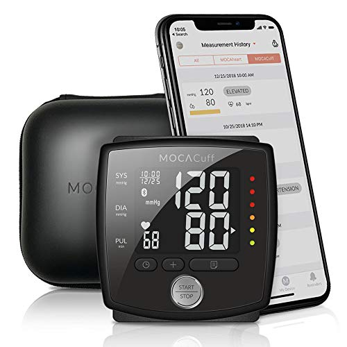 415q UUM6pL. SS500  - MOCACuff Portable Bluetooth Blood Pressure Monitor, Wrist Blood Pressure Monitor Cuff, Phone Connect Fully Automatic…