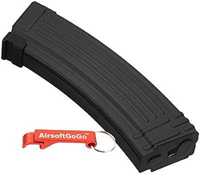 AK 140rds Metal Mid-Cap Cargador para Airsoft Marui AK74 AK47 AK serie AEG - AirsoftGoGo Llavero Incluido