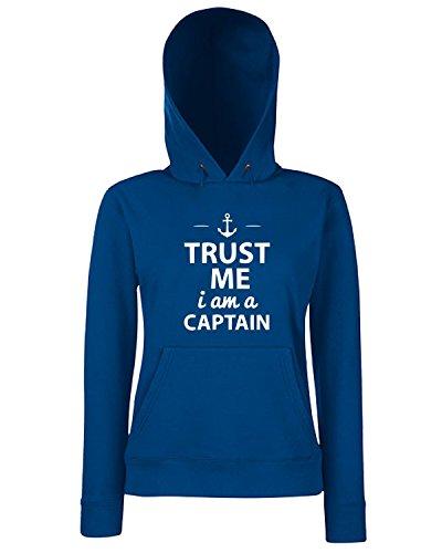 T-Shirtshock - Sweats a capuche Femme TM0445 trust me i m captain Bleu Navy