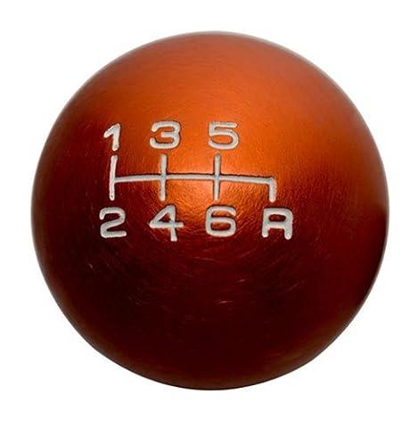 10x1.5mm Thread 6 speed Shift Knob in ORANGE Round Ball Billet Aluminum for Honda Civic Type-R & Si JDM 06 07 08 09 10 2006 2007 2008 2009 2010
