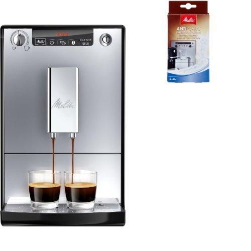 Melitta Starter Pack: Melitta E 950-103 Kaffeevollautomat Caffeo Solo mit Vorbrühfunktion,...