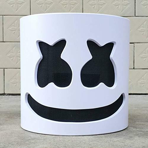 LED Licht Marshmello Maske Cosplay DJ Musik Masken Disco Bar Party Requisiten Halloween Cosplay LED Luminous Full Head Helm, ohne LED