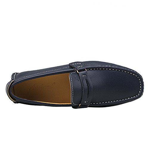 Shenduo Scarpe Uomo - Mocassini Uomo di pelle liscia loafers scarpe casual D3328 Blu
