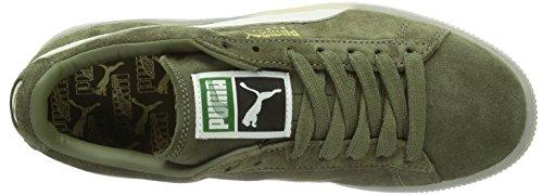 Puma Suede Classic+ LTHR FS Unisex-Erwachsene Sneakers Grün (burnt olive 03)