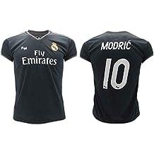 0bb7f1ec6e Camiseta de Fútbol Luka Modric 10 Real Madrid 2ª Equipación Negra Temporada  2018-2019 Replica