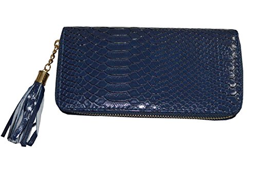 KARL LOVEN , Damen Clutch blau