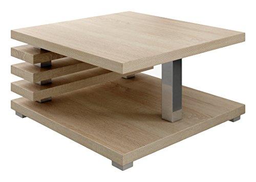 Tavolino Da Caffè Tavolino Da Salotto Tavolo Oslo 60 x 60 CM Rovere Chiaro Sonoma