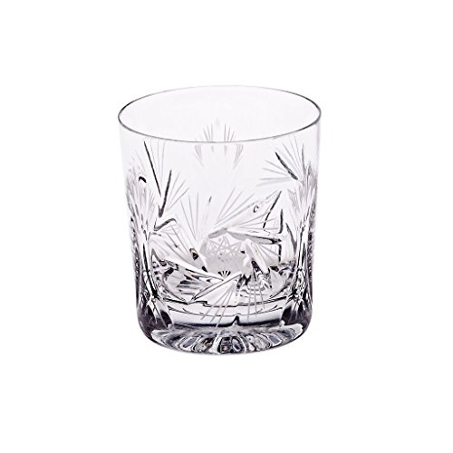 Cristal Verre Á Whisky, Collection ROTATION STAR, transparent, cristal, fait à main, style moderne (GERMAN CRYSTAL powered by CRISTALICA)