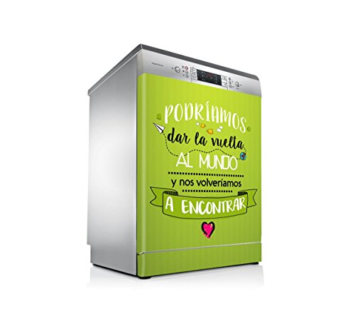 Vinilo Lavavajillas | Stickers Dishwasher | Pegatina Lavavajillas | Mundo