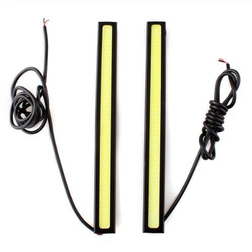CARCHET® 2 x 5W DRL COB LED Ampoule Lampe Lumière Feux de Jour Blanc DC 12V Voiture