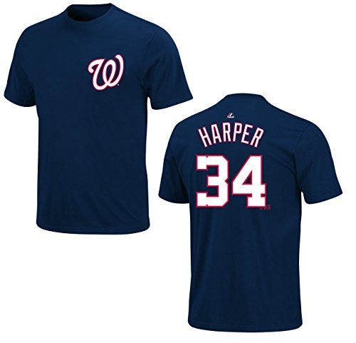 MLB Baseball T-Shirt WASHINGTON NATIONALS Bryce Harper #34 navy in XL (X-LARGE)