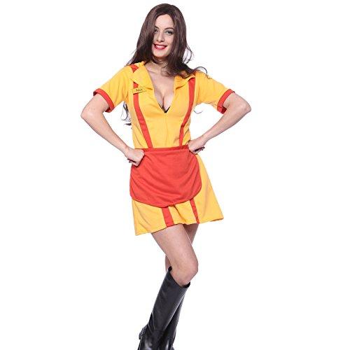 en 2 broke Girls Dienstmaedchen Kostuem f. Karneval Fasching Gr.S M L XL (S) (Kleid Für Grils)