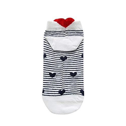 ensionale Liebesferse Mit Tief Ausgeschnittenen Socken Zufällige Arbeit Herz Förmige Baumwollliebes Mode Socke Anime-Cartoon-Socken Unsichtbare 1 pair (D) ()