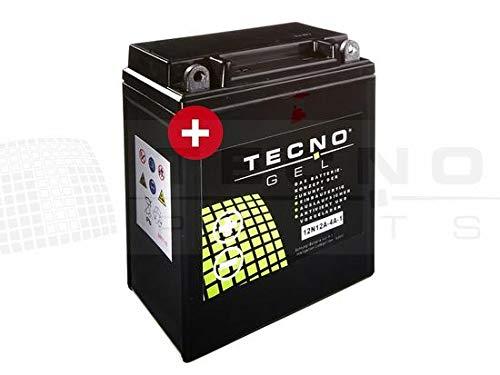E 1 Batterie (TECNO-GEL Motorrad-Batterie YB12A-A/B = 12N12A-4A-1, 12V Gel-Batterie 12Ah (DIN 51211, 51215), 134x80x161 mm inkl. Pfand)