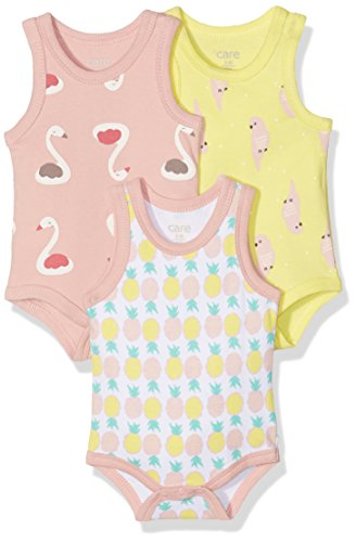 Care Babel Body Bebé-Niños, pack de 3, Multicolor (Light Yellow), 68