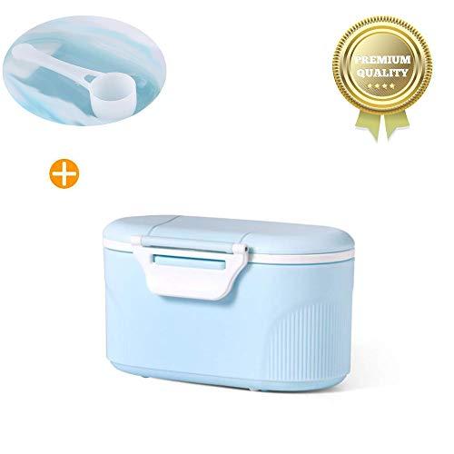 Sunshine smile Bebé Portátil en Polvo Stackable Box Dispensador de Fórmula,Set de recipientes para leche maternal,tupper infantile. (Azul pequeño)