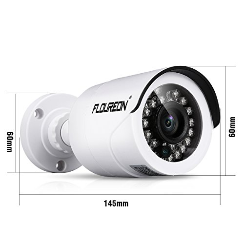 FLOUREON CCTV Cameras Security System 8CH 1080N DVR 4 Outdoor 2000TVL AHD  Bullet Cameras Motion Detection/Night Vision/P2P Remote Control