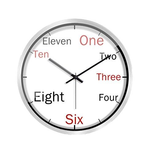 C-J-Xin Quarz Wandmontage Uhr, (30-35cm) Wanduhr Wohnzimmer Klassenzimmer Bibliothek Wanduhr Wanduhr (Farbe : Silber, größe : 35 * 35CM)