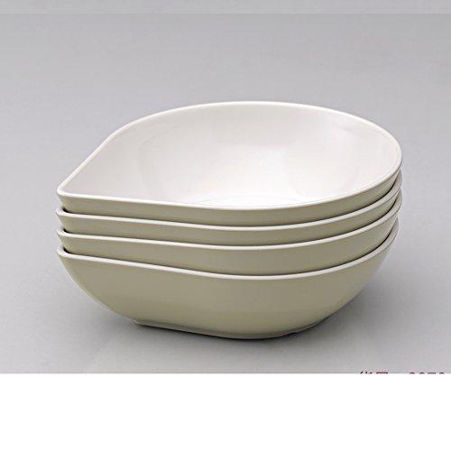 piatti da dessert melamina/Ciotola di frutta creativo europeo/Salad plate/ goccia piatto profondo di quattro pezzi-C