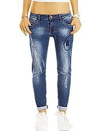Bestyledberlin Damen Karotten-Jeans, Used Look Hüftjeans, Baggy Style Jeans j29l
