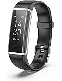 Binzi Smart Band Android Smart Watches, 2019 New Algorithm Accurate Heart Rate Monitor Technology, Fitness Watch for Men, Step Count, Auto Sleep Tracker, IP67 Waterproof Under 3000 Rupee - Y3 (Black)