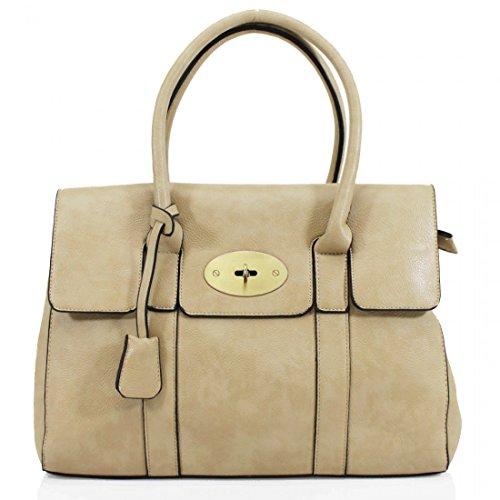 HB Style - Borsa sacchetto stile lusso Ragazza donna unisex adulti beige