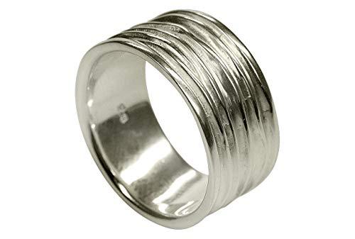 SILBERMOOS XL XXL Ringe in großen Größen Ring Damenring Herrenring Partnerring Bandring glänzend matt breit Sterling Silber 925 Größe 64, 66, 68, 70, Größe:66 (21.0)