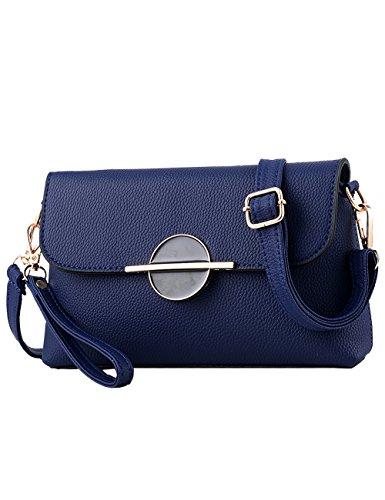 Menschwear Leather Tote Bag lucida PU nuove signore borsa a tracolla Rosso Blu